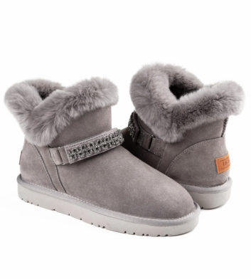 Ugg Polly Buckle Boot Grey