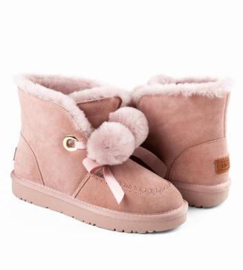 Ugg Megan Pom Lace Boot Pink