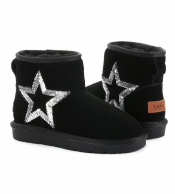 Ugg Denise Sequin Starry Boot Black