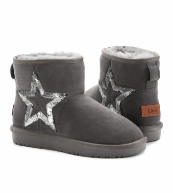 Ugg Denise Sequin Starry Boot Grey