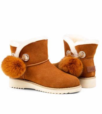 Ugg Jill Mini Slim Boot Chestnut