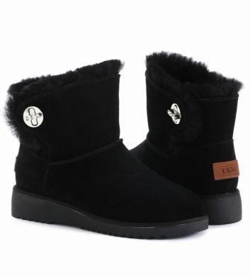 Ugg Paula Mini Buckle Boot Black