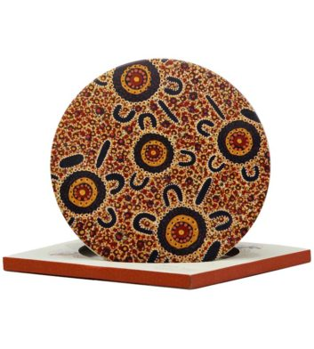 Bush Tucker Ceramic Trivet