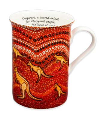 Kangaroo Sunset Mug