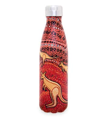 Insulated Drink Bottle Kangaroo Sunset