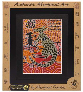 Marlu Kangaroo Standing Framed Art