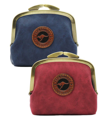 Suede Colour Coin Bag with Clip