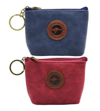 Suede Colour Coin Bag Rectangle With Base