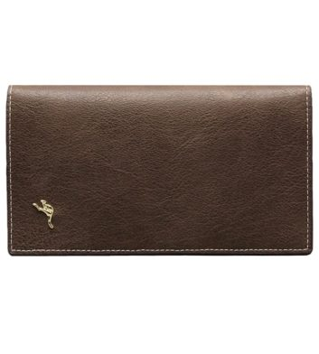 Kangaroo Pin Ladies Purse Brown