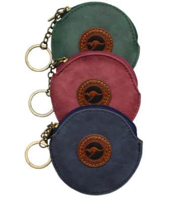 Suede Colour Coin Bag Round