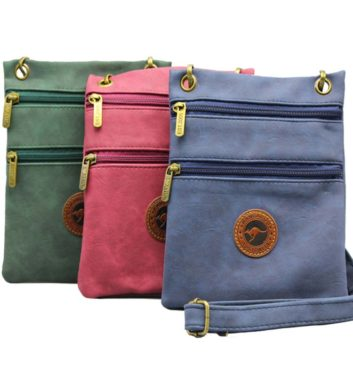 Suede Two Zip Colour Bag