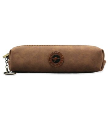 Suede Leather Pencil Case