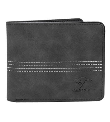 Four Stitch Black Mens Wallet