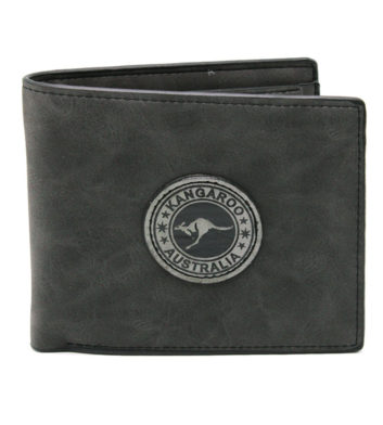 Kangaroo Badge Black Wallet