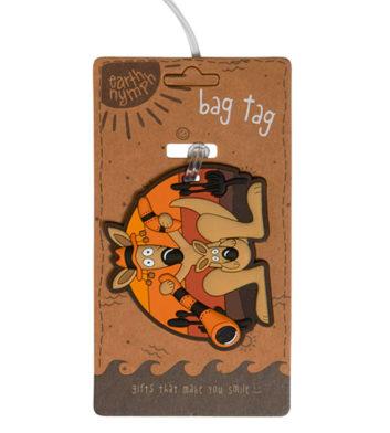 Kangaroo & Didgeridoo Luggage Tag