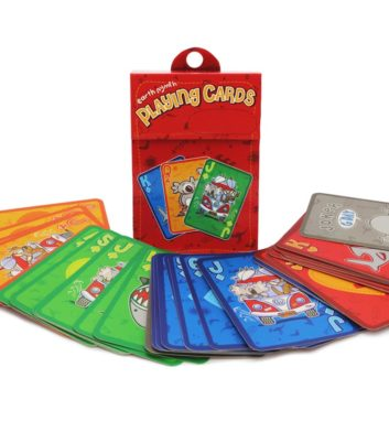 Kids Playing Cards Red Edition