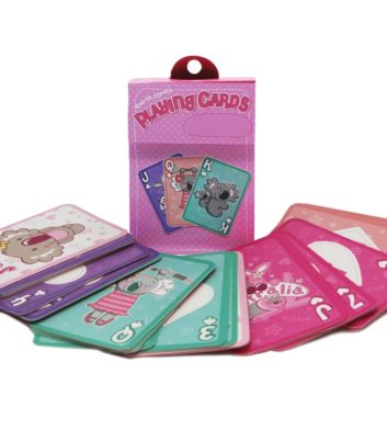 Kids Playing Cards Pink Edition