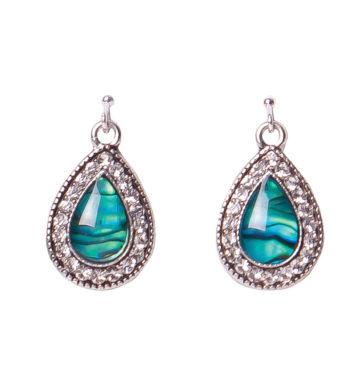Paua Shell Teardrop Earrings