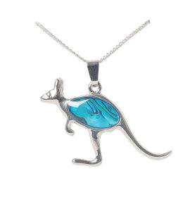 Kangaroo Paua Shell Pendant Necklace