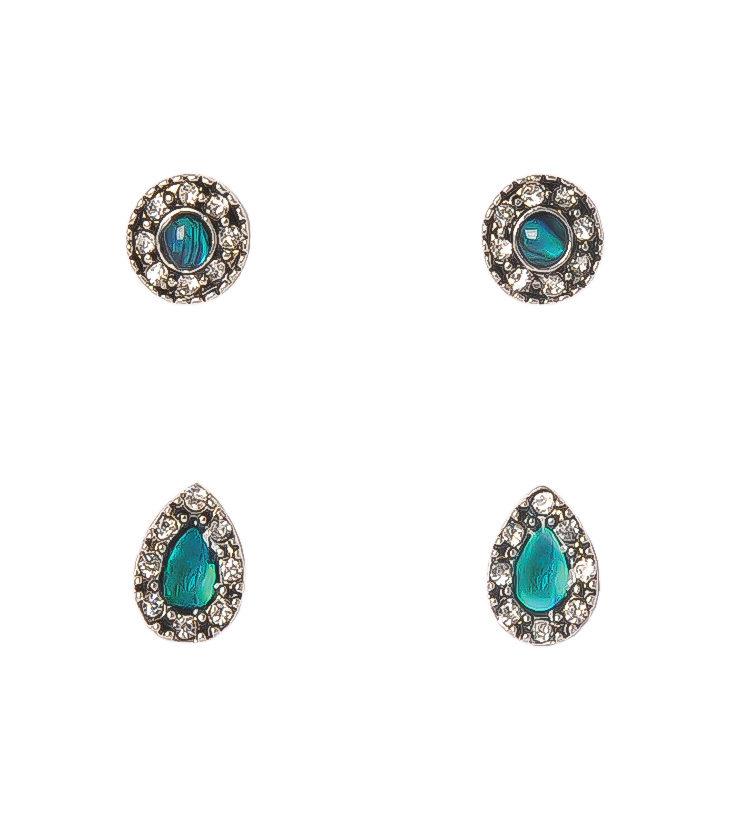 Paua Shell Earrings Set Of Two