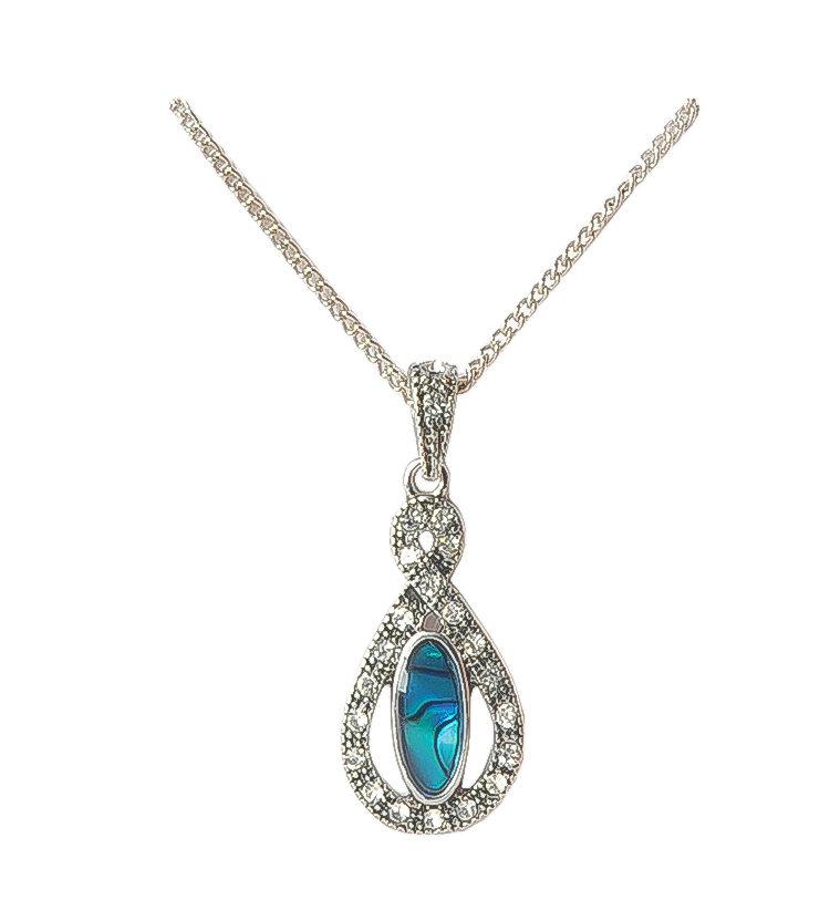 Paua Shell Figure 8 Necklace
