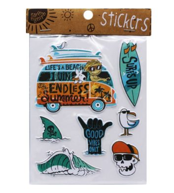 Boys Coastal Sticker Pack