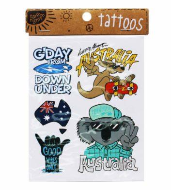 Boys Australiana Tattoo Pack