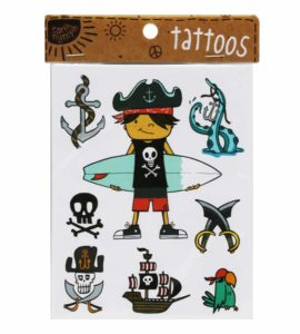 Boys Coastal Tattoo Pack