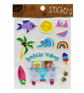Girls Coastal Sticker Pack