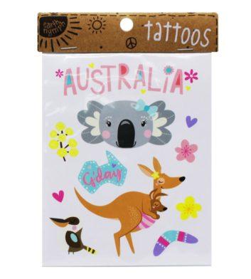 Girls Australiana Tattoo Pack