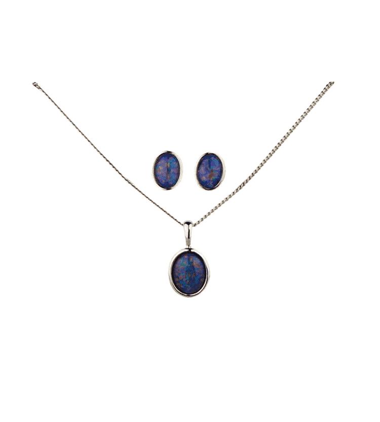 Australian Opal Oval Jewellery Set