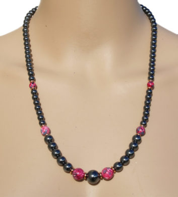 Necklace Iron Ore Plum