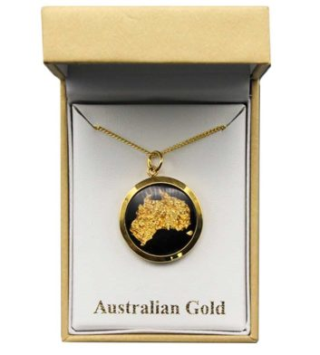 Australian Gold Map Necklace