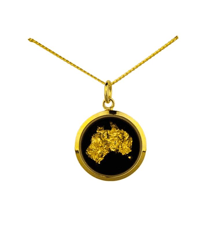Gold leaf Australia pendant