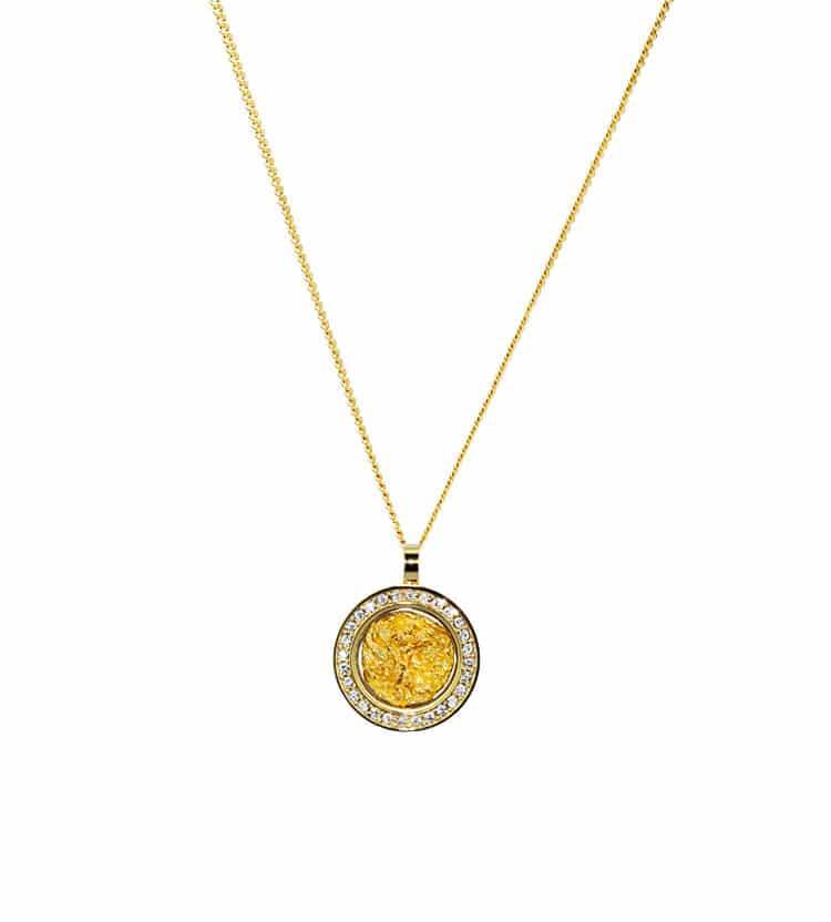 Gold & Glass Diamante Necklace