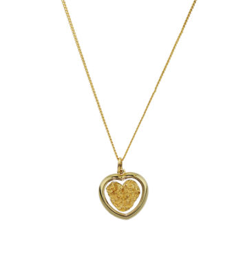 Gold & Glass Heart Necklace