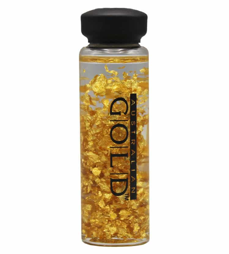 Large Gold Leaf Bottle