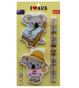 Swag Koala Notebook & Pencil Twin Pack