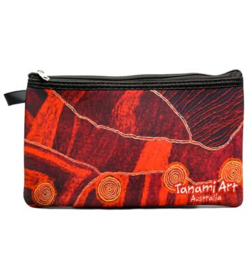 Aboriginal Pencil Case Red