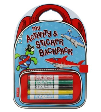 Kids Activity Book Backpack Beach Boy
