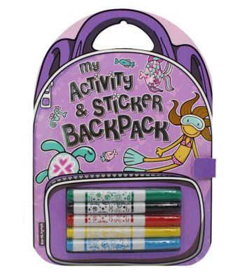 Kids Activity Book Backpack Beach Girl