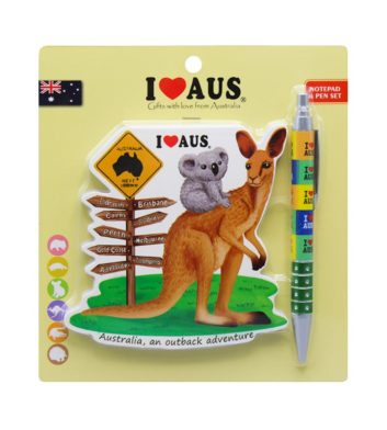 Kangaroo & Koala Notebook & Pen Set