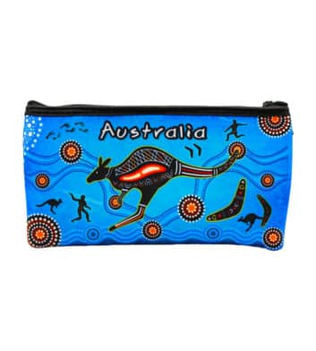 Dot Art Kangaroo Pen Case Blue