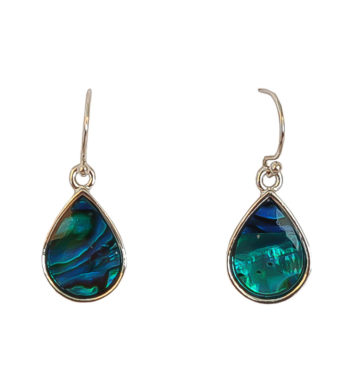 Paua Shell Teardrop Hook Earrings