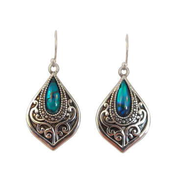 Paua Shell Moroccan Earrings
