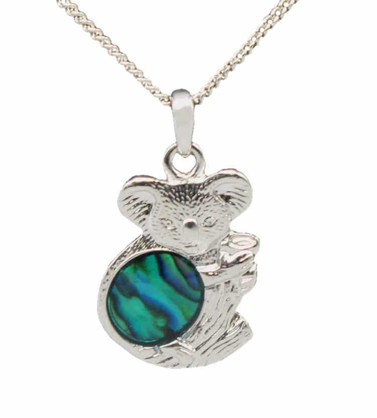 Paua Shell Koala Necklace