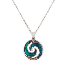 Paua Shell Koru Necklace