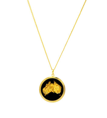 Australia Map Necklace