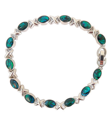 Paua Oval Cross Bracelet