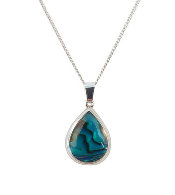 Paua Shell Teardrop Necklace